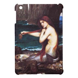 Caso del iPad de la sirena del vintage del Waterho