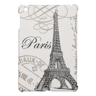Caso del ipad de la torre Eiffel del vintage mini