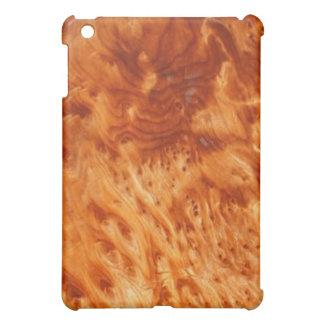 Caso del iPad de la viruta del Burl del fuego
