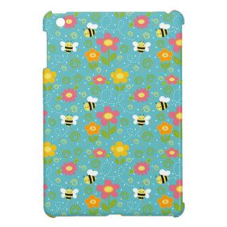 Caso del iPad de las abejas y de las flores mini