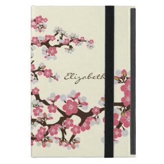 Caso del iPad de las flores de cerezo mini con Kic iPad Mini Cárcasas