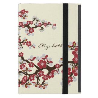 Caso del iPad de las flores de cerezo mini con Kic iPad Mini Protector