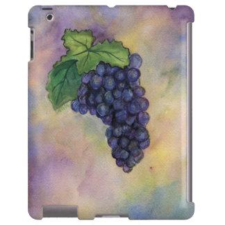 Caso del iPad de las uvas de vino rojo del pinot n Funda Para iPad