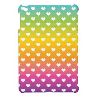 Caso del iPad de los corazones del arco iris mini iPad Mini Coberturas