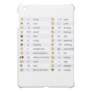 Caso del iPad de los Emoticons mini
