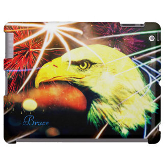 Caso del iPad de los fuegos artificiales de Eagle  Funda Para iPad