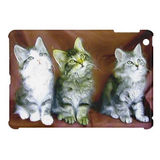 Caso del ipad de los gatos de Tabby mini