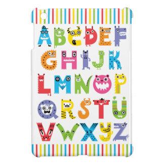 Caso del iPad de los monstruos del alfabeto mini iPad Mini Cárcasa