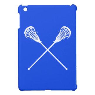 Caso del iPad de los palillos de LaCrosse del azul