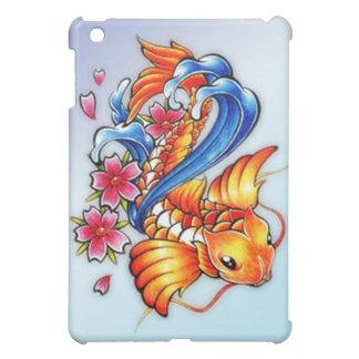 Caso del iPad de los pescados de Koi del vuelo
