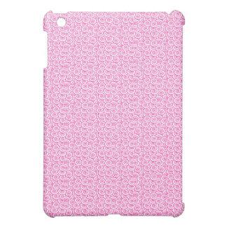 Caso del iPad de los remolinos del rosa y del blan