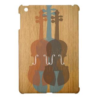 Caso del ipad de madera del violín del vintage