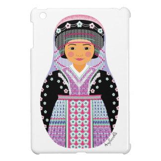 Caso del iPad de Matryoshka del chica de Hmong min