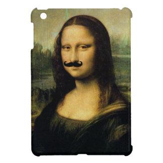 Caso del iPad de Mona Lisa del bigote mini