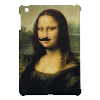 Caso del iPad de Mona Lisa del bigote mini iPad Mini Carcasas