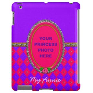 Caso del iPad de princesa Argyle Photo Frame-