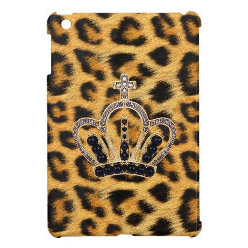 Caso del iPad de princesa Crown Leopard Fur mini iPad Mini Carcasa