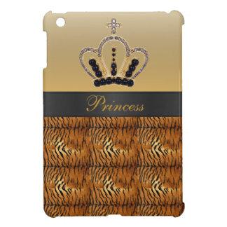 Caso del iPad de princesa Crown Tiger Fur mini