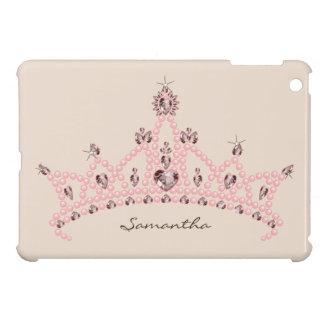 Caso del iPad de princesa Tiara Rhinestone Crown