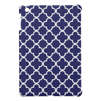 Caso del iPad de Quatrefoil de los azules marinos
