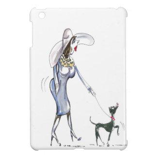 Caso del iPad de señora Walking Her Dog mini iPad Mini Protectores