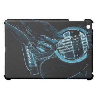Caso del iPad del amante de la música del guitarri