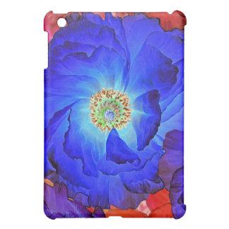 Caso del iPad del arte de la amapola azul de los v