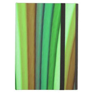 Caso del iPad del arte del arco iris con Kickstand
