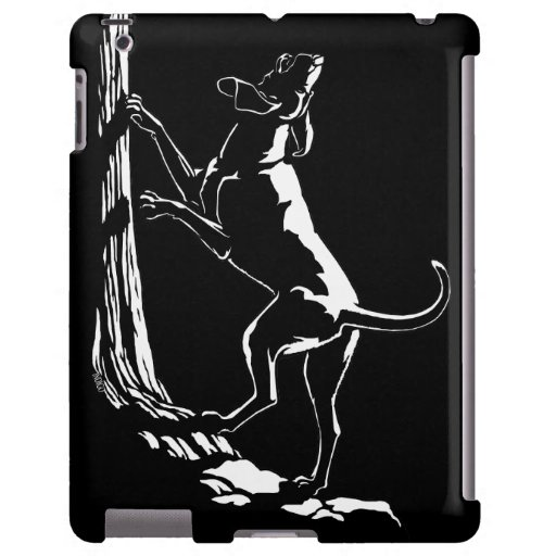 Caso del iPad del arte del perro de caza del caso