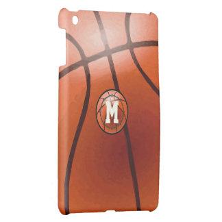 Caso del iPad del baloncesto del monograma mini