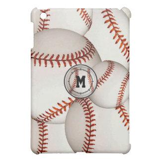 Caso del iPad del béisbol del monograma mini