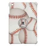 Caso del iPad del béisbol del monograma mini iPad Mini Cárcasas