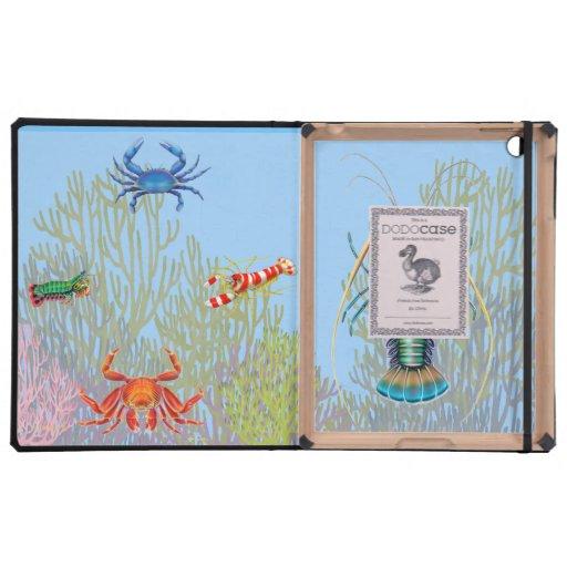 Caso del iPad del cangrejo, de la langosta y del c iPad Cárcasa