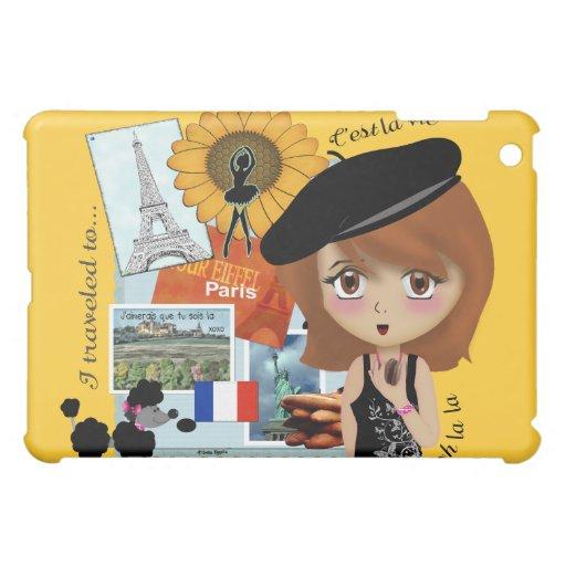Caso del iPad del chica del día de fiesta de París