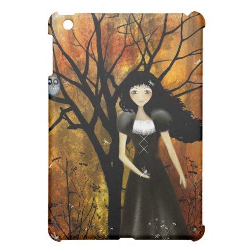 Caso del iPad del chica del gótico del otoño del a