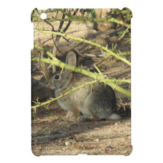 Caso del iPad del conejo de conejo de rabo blanco