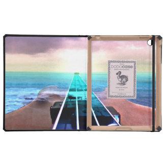 Caso del iPad del cuello de la guitarra baja de la