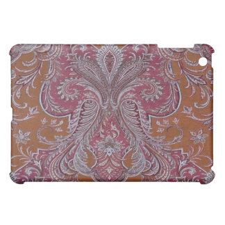 Caso del iPad del damasco del cobre del vino del v iPad Mini Cárcasa