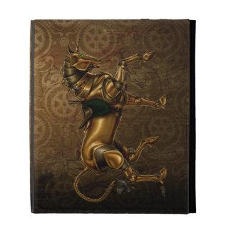 Caso del iPad del damasco del unicornio de Steampu