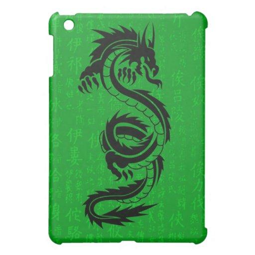 Caso del iPad del dragón verde