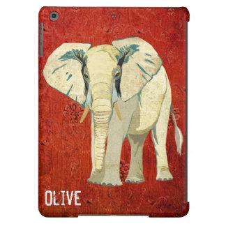 Caso del iPad del elefante blanco Funda Para iPad Air