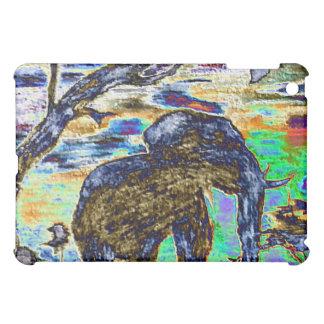 Caso del ipad del elefante de la hoja
