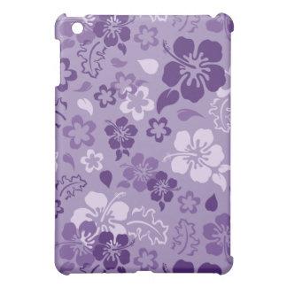 Caso del iPad del estampado de plores del hibisco