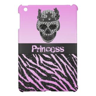 Caso del iPad del estampado de zebra de princesa