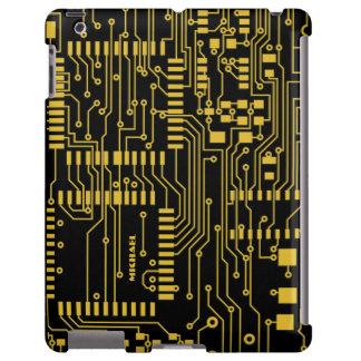 Caso del iPad del friki de la placa de circuito de