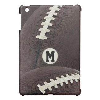 Caso del iPad del fútbol del monograma mini