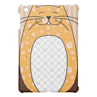 Caso del iPad del gato anaranjado