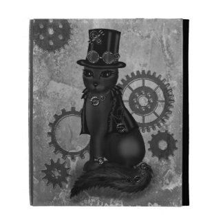 caso del ipad del gato del steampnk