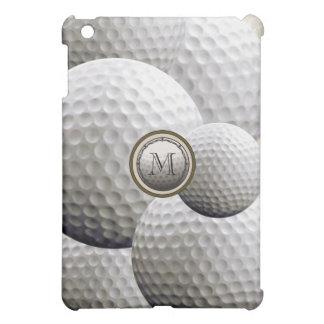 Caso del iPad del golf del monograma mini