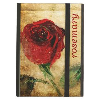 Caso del iPad del Grunge del rosa rojo del vintage